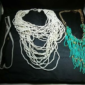 Statement necklaces lot beaded mix womens